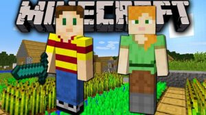 Minecraft Steve and Alex